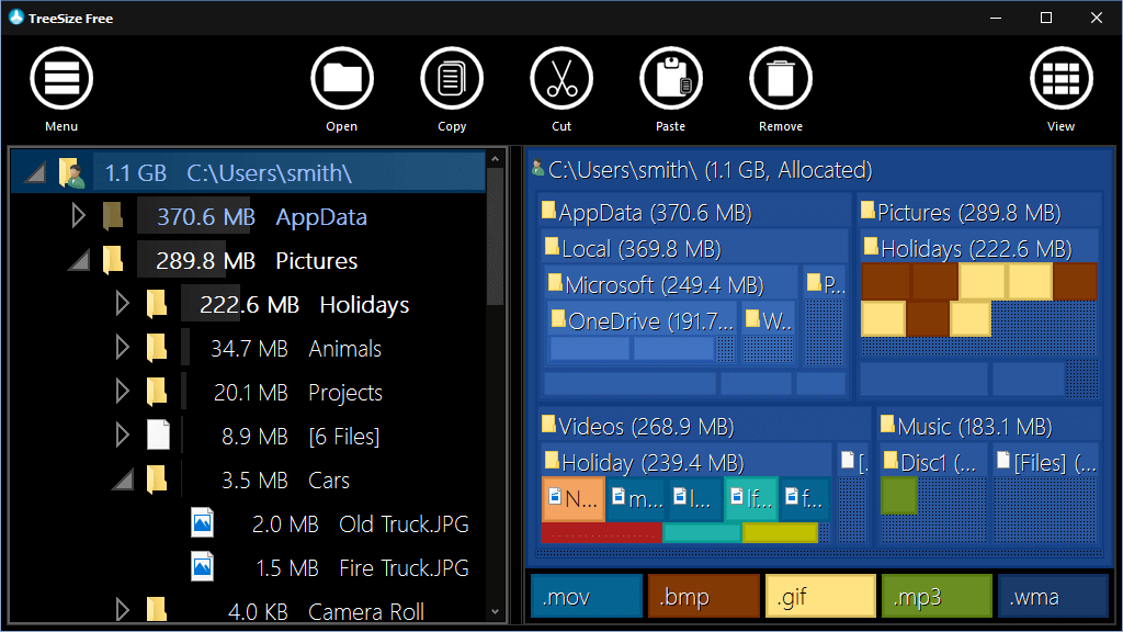 TreeSize Free v4 Touch Interface Tree Map – Better Disk